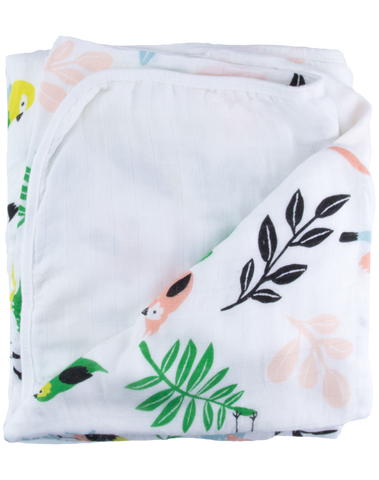 TROPICAL BIRD - TRIPLE LAYER BLANKET