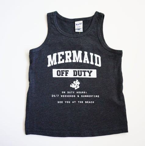 MERMAID OFF DUTY TANK - CHARCOAL