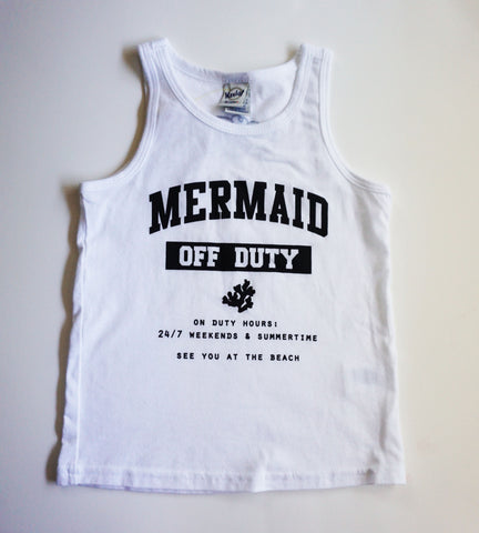 MERMAID OFF DUTY TANK - WHITE