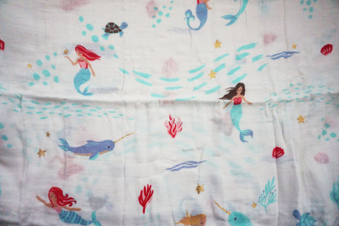 MERMAID AND NARWHALS  SWADDLE