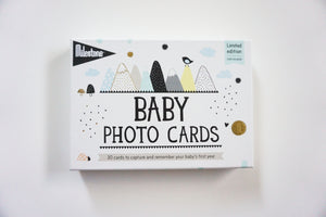 OVER THE MOON BABY PHOTO CARDS