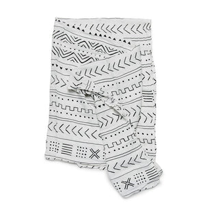 WHITE MUDCLOTH SWADDLE