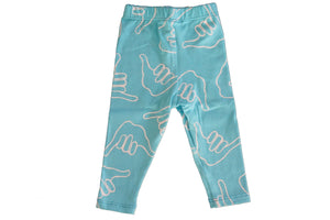 SHAKA LEGGINGS - LIGHT BLUE