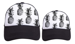 Mama/Baby Pineapple hat set
