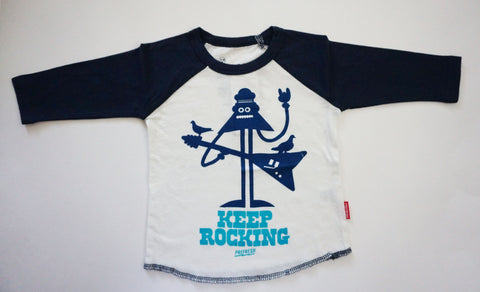 KEEP ROCKING RAGLAN TEE