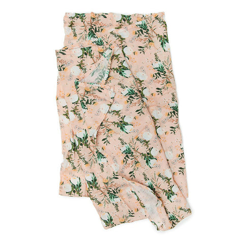 Blushing Protea Muslin Swaddle Blanket