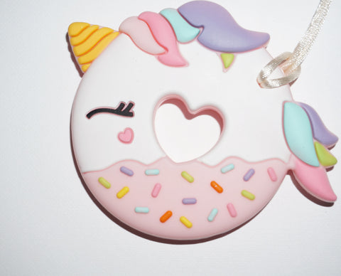 LOULOU UNICORN DONUT W/HOLDER - PINK