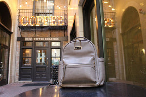 Taupe Mini Diaper Bag