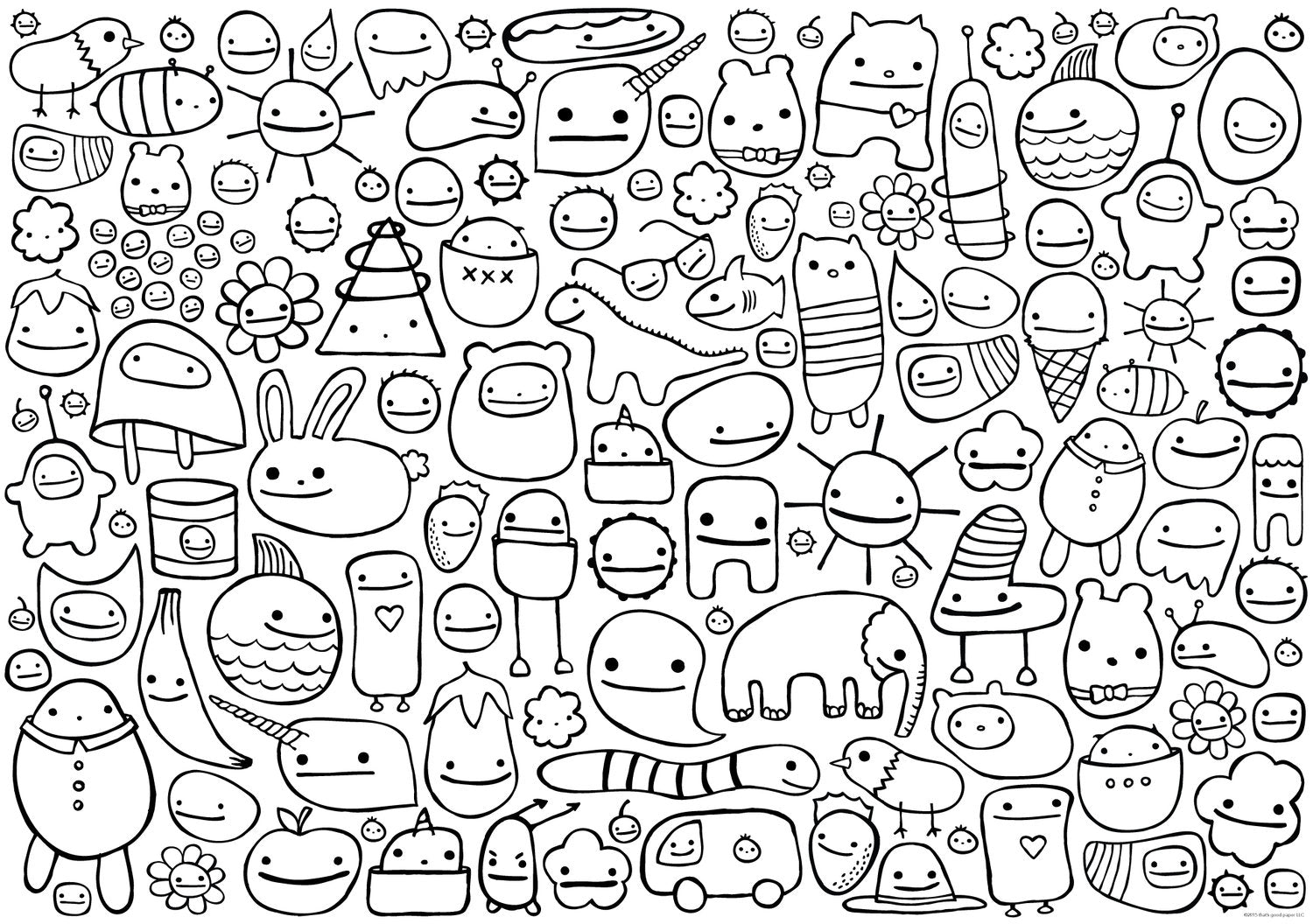 X-LARGE COLORING PAGES
