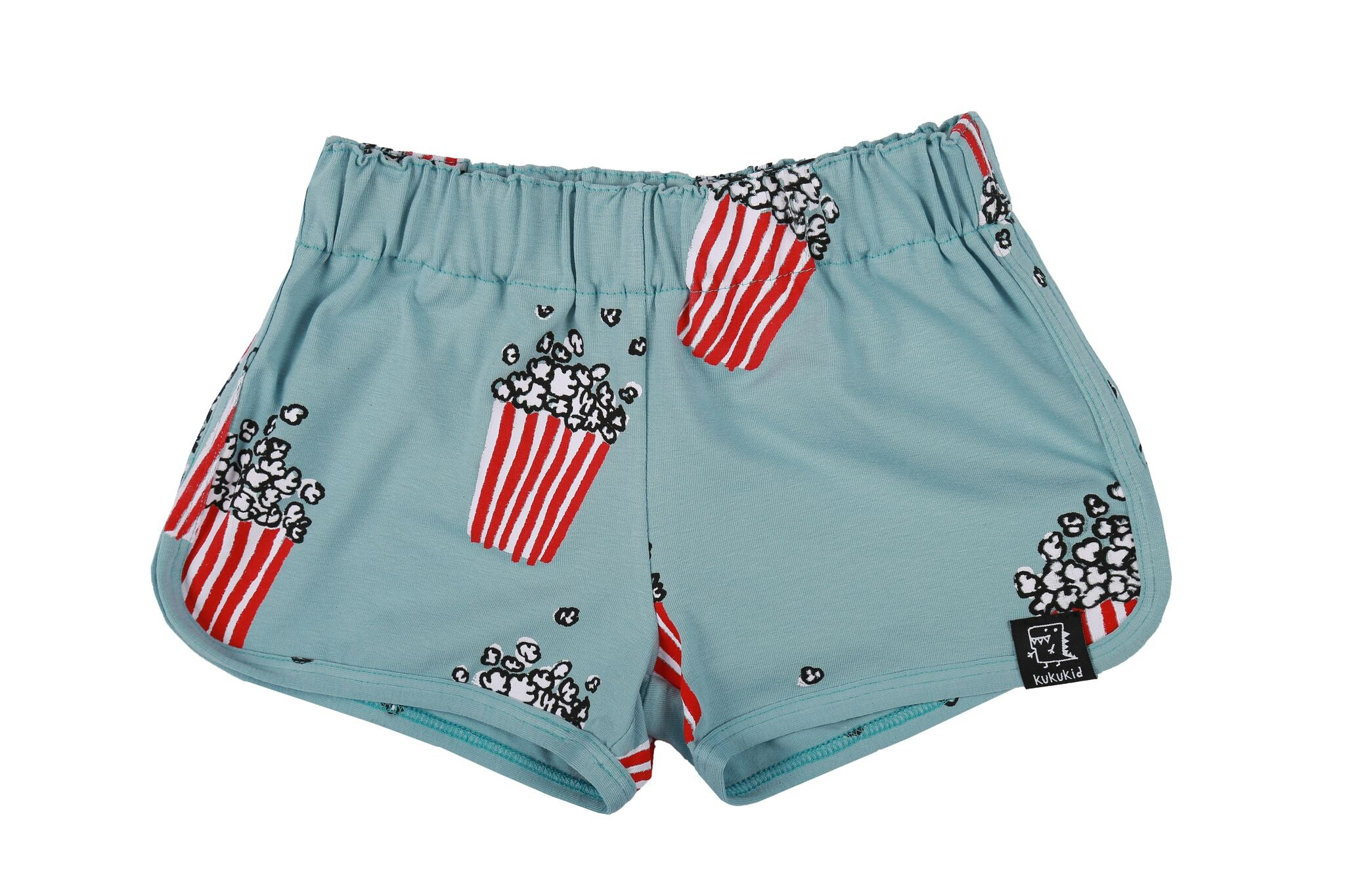 LIGHT AZURE POPCORN - SHORTS