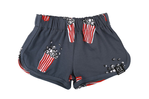 NAVY BLUE POPCORN - SHORTS