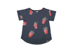 NAVY BLUE POPCORN - T-SHIRT