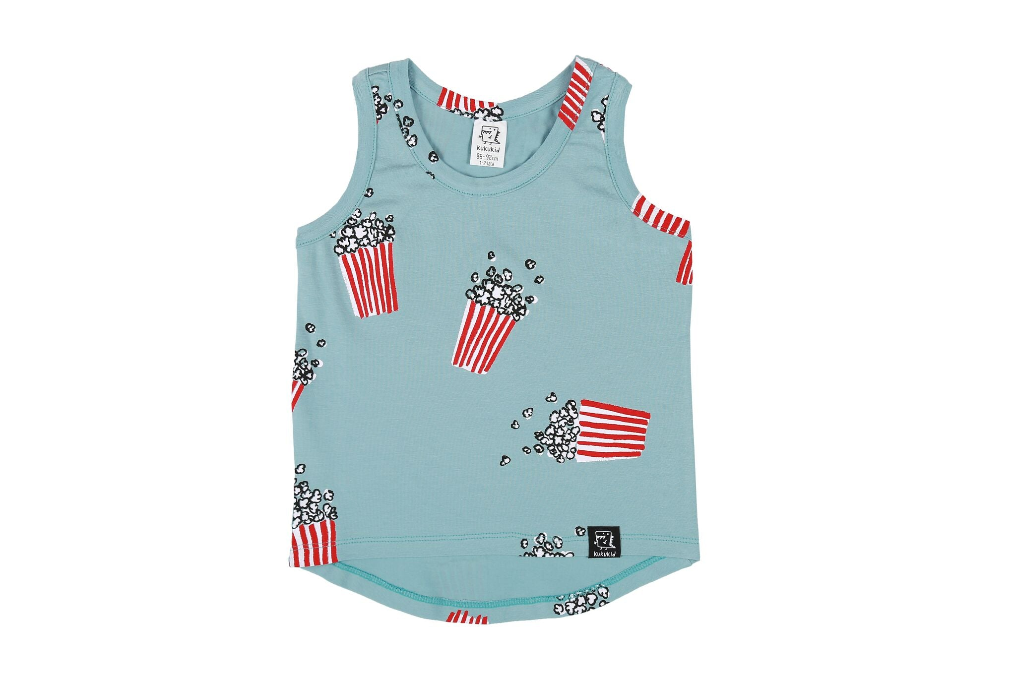 LIGHT AZURE POPCORN - TANK TOP