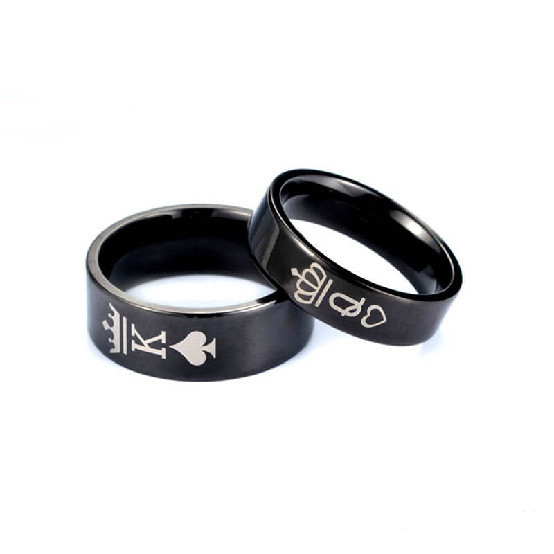 Crown couple Titanium steel male and female rings