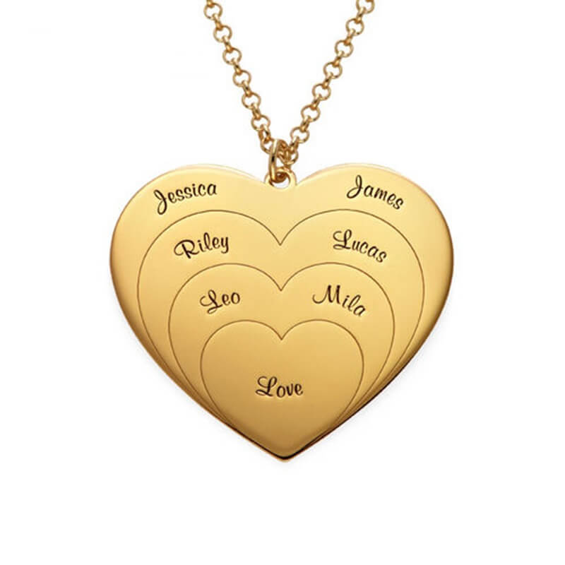 Sterling Silver Personalized Gold Name Necklace