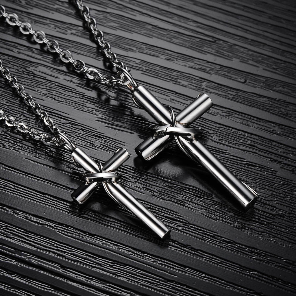 Titanium Steel Necklace for Love Cross Couple