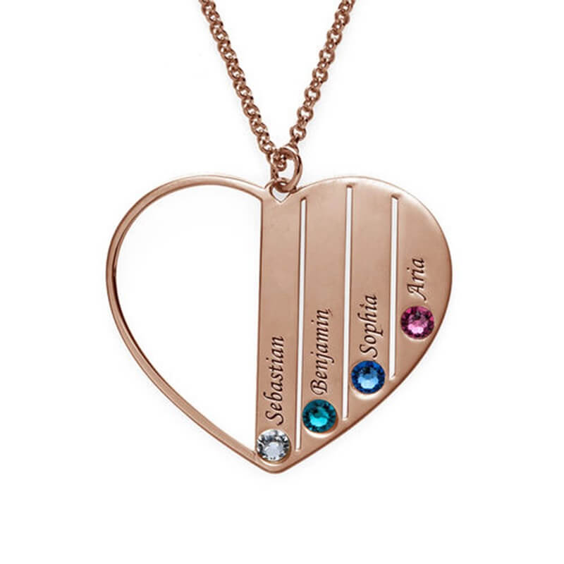 Personalized Heart Name Necklace Sterling Silver