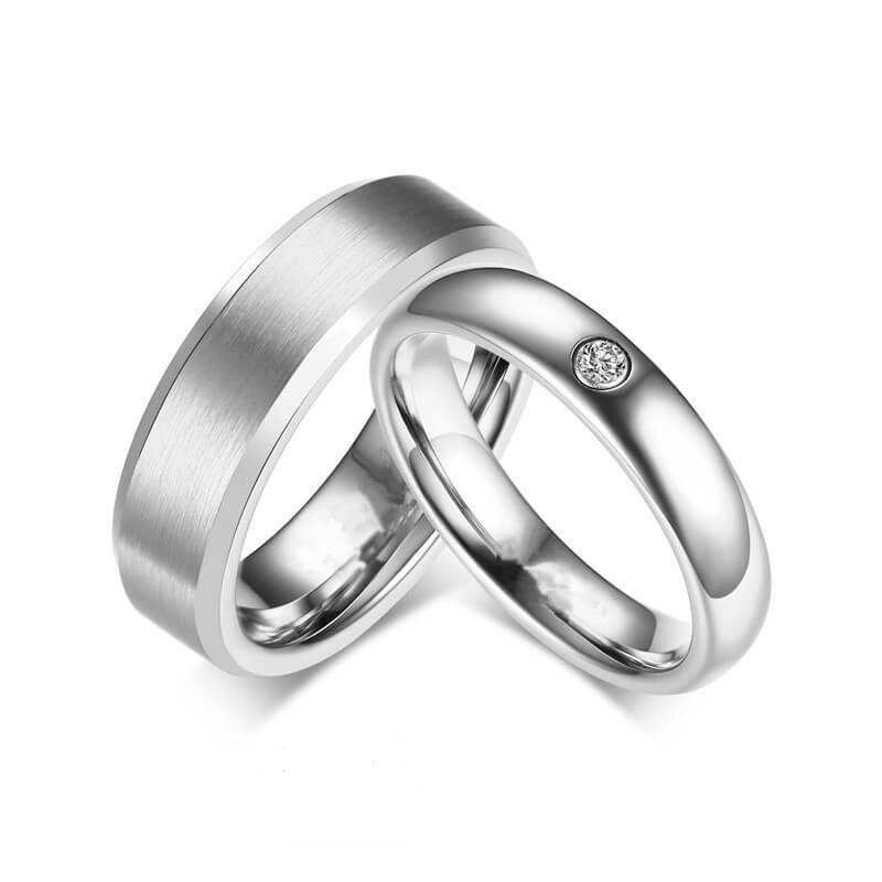 Titanium Couple Ring Personalize with Engravings