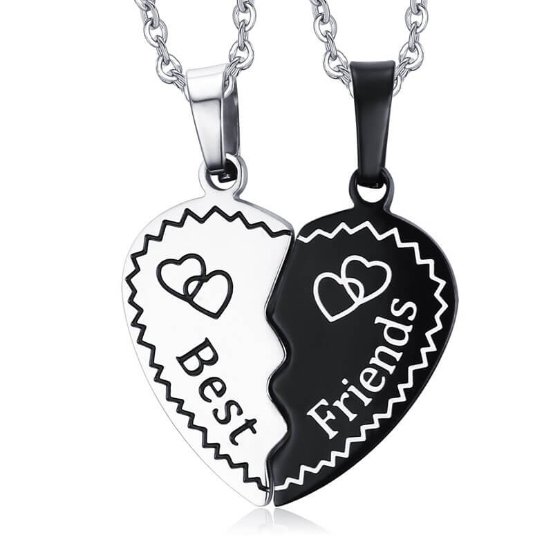 Couple Heart Best Friendship Necklaces