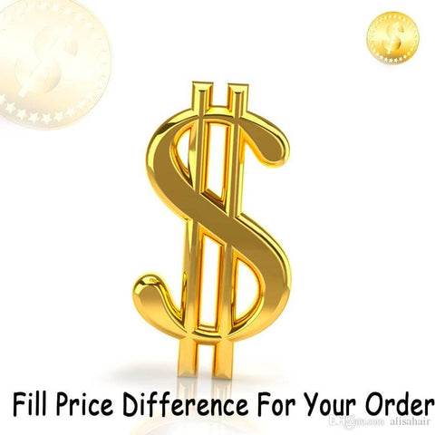 Fill Price Difference For Your Order