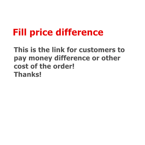Fill price difference or other cost