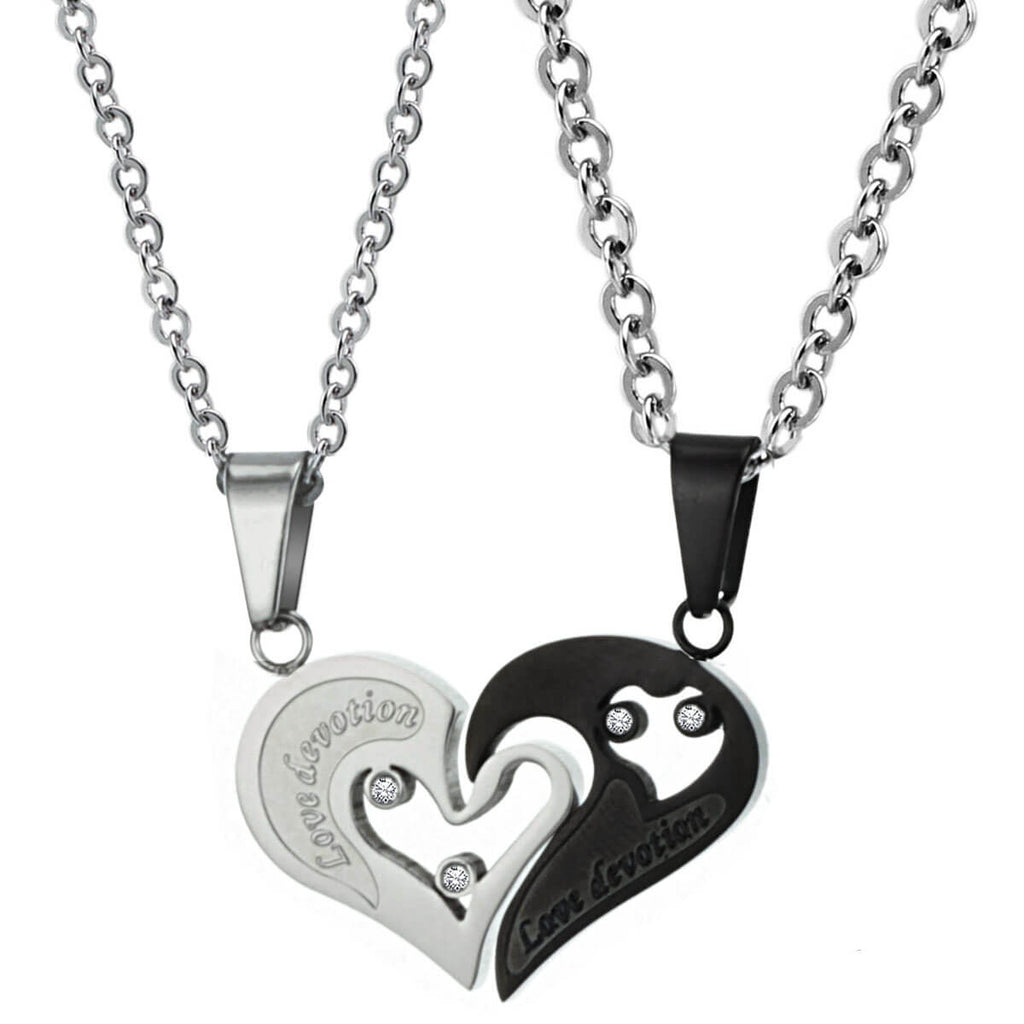 Matching Heart Couple Necklaces