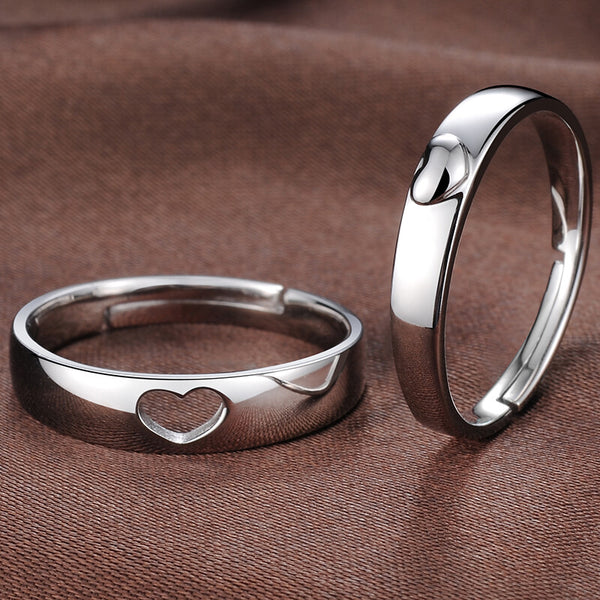 Matching Heart Promise Rings for Couple