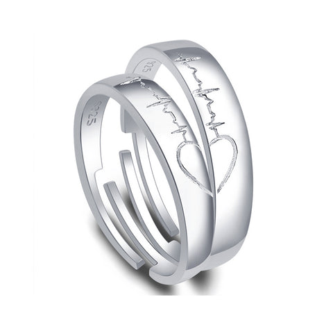 Matching Heart Resizable Lover Rings