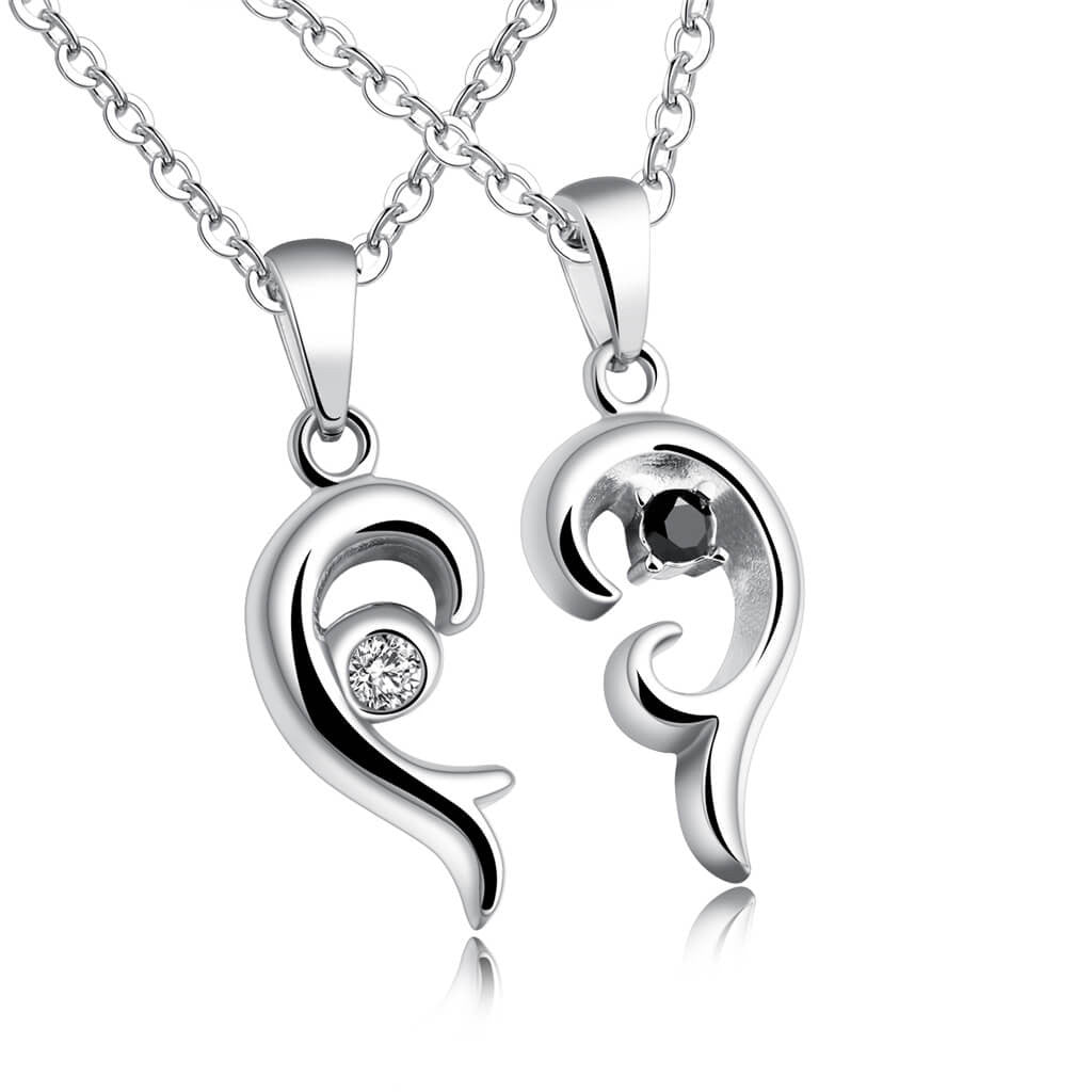 Matching Heart Necklaces for Couple