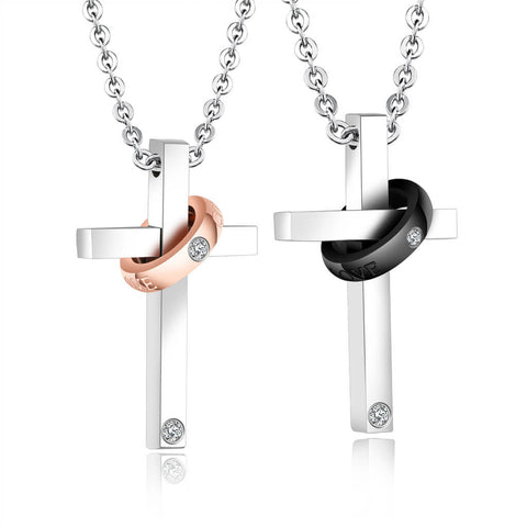 Cross Couple Necklaces