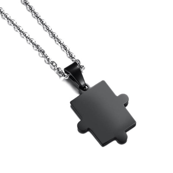 Matching Puzzle Necklace Black