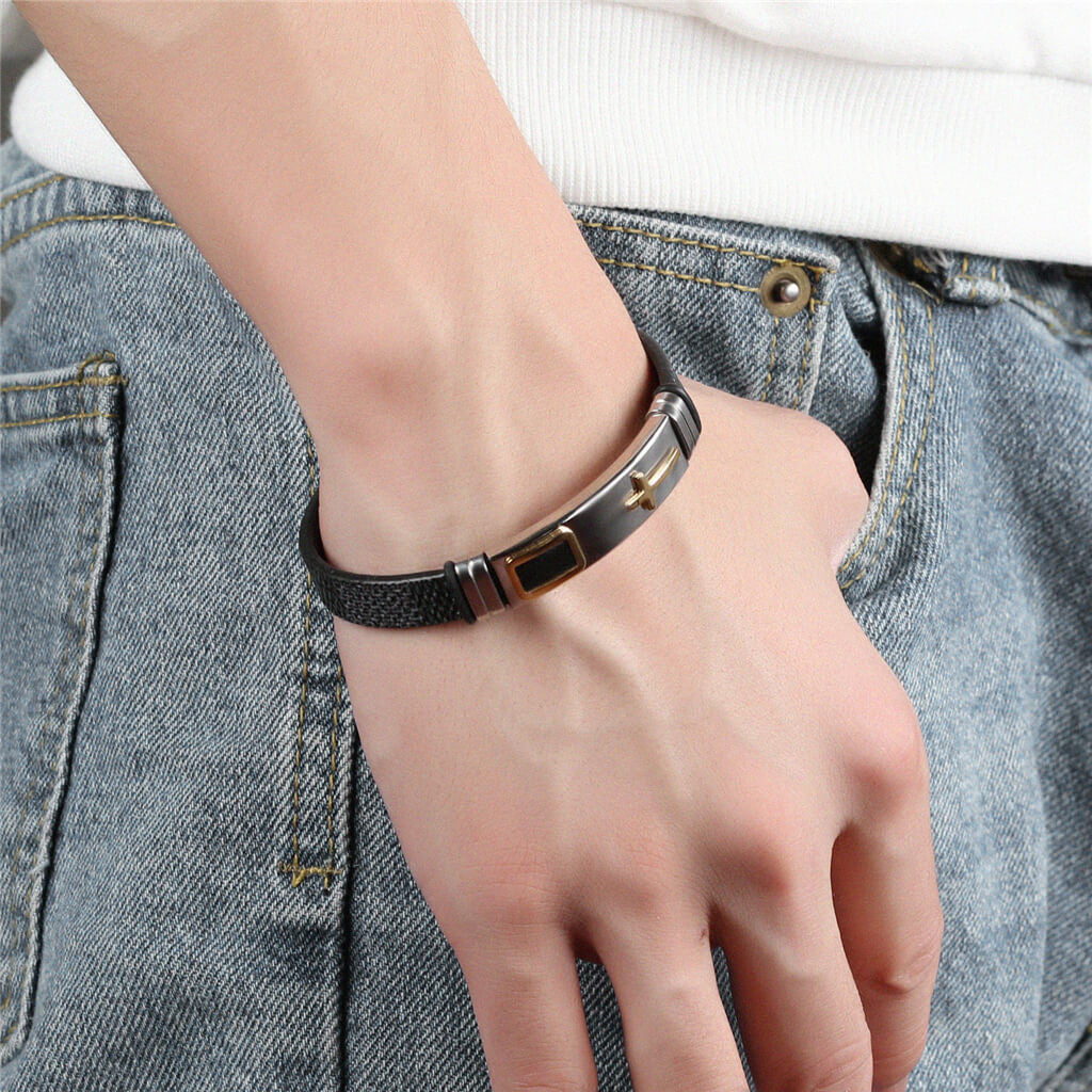 Cross Stainless Bracelet