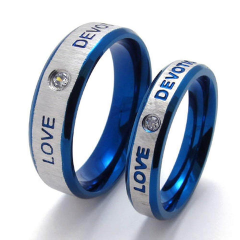 Blue Love Devotion Promise Rings