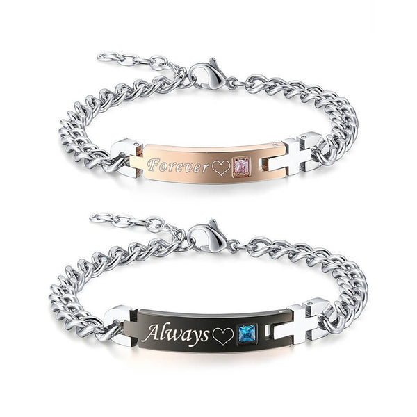 ALWAYS & FOREVER Matching Bracelets for Couple
