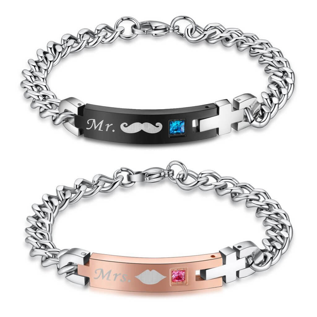 Mrs. & Mr. Bracelets For Couple