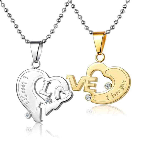 Couple Heart Necklaces
