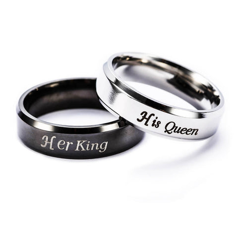 Couple Rings Personalized Matching Promise Rings For Her His