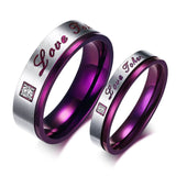 Purple Couple Rings