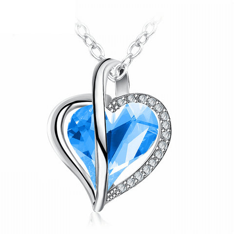 Limited Offer! Blue Crystal Heart Necklace