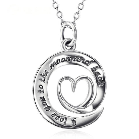 Love Heart Pendant Necklace 18""