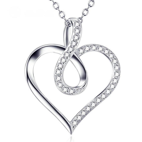 Infinity Heart Pendant Necklace