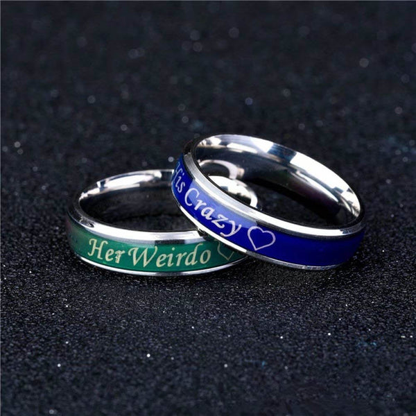Mood Temperature Promise Rings His Crazy Her Weirdo