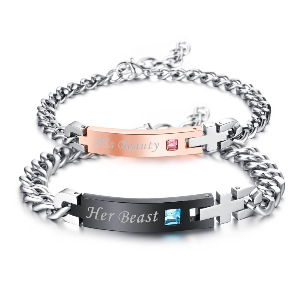 Her Beast & His Beauty Couple Bracelets ( Set)