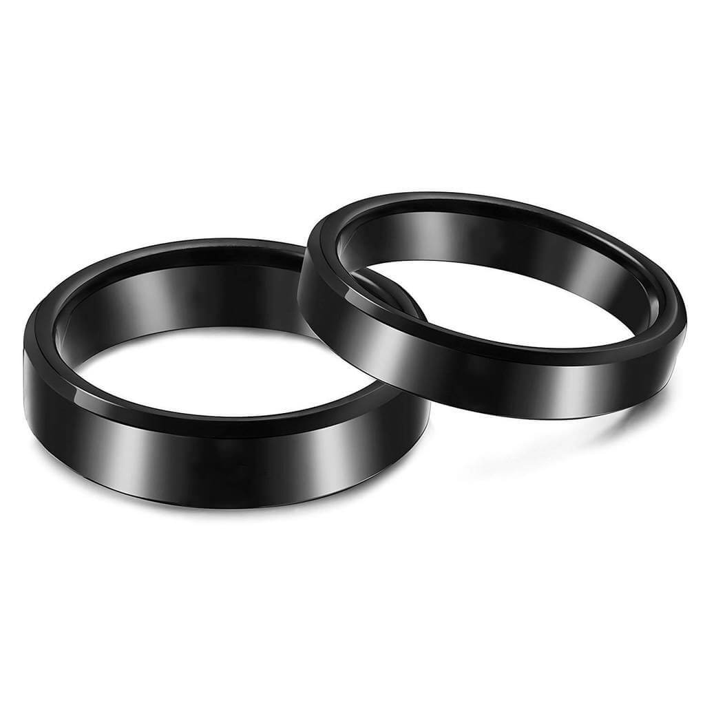 Black Promise Rings Personalize with Engravings