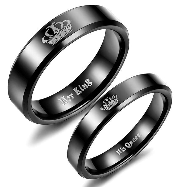 Black King and Queen Rings