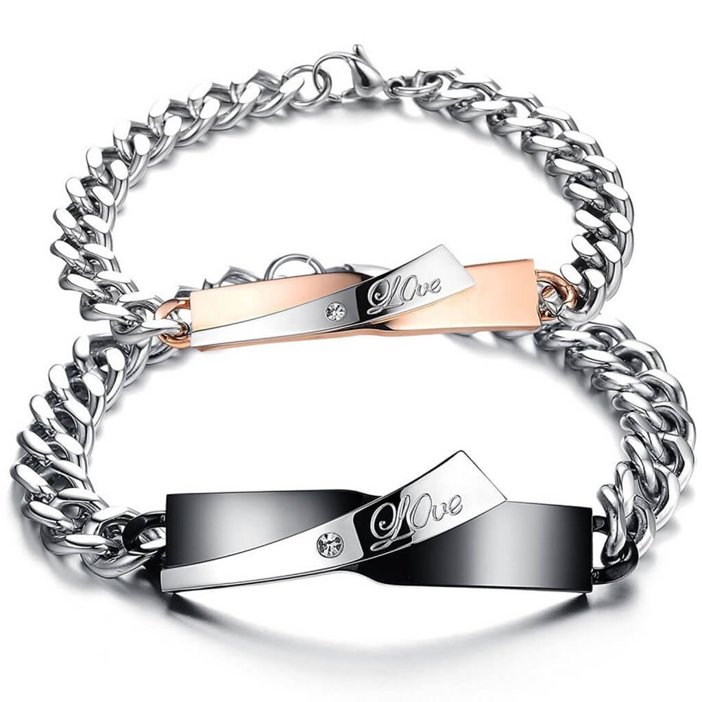 Matching Love Bracelets for Couples