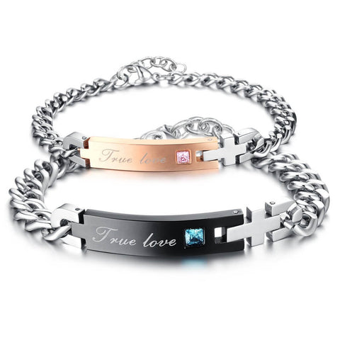 """True Love"" His and Hers Bracelets"