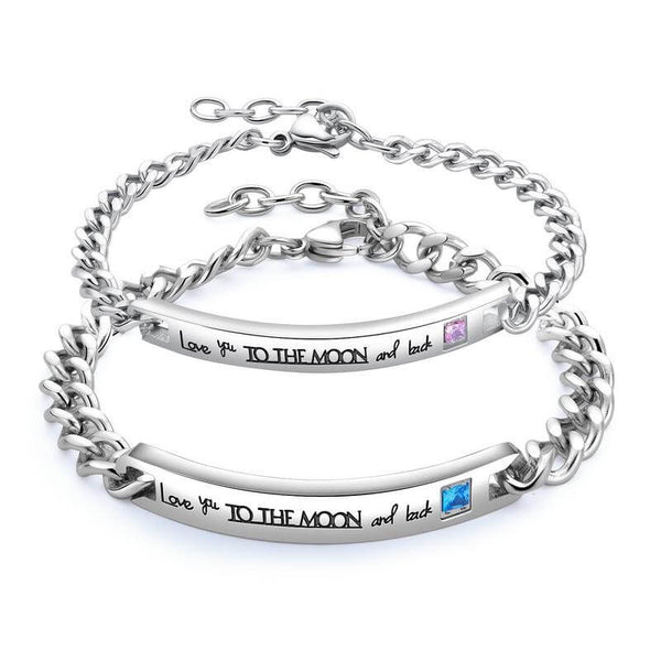 Engraved Couple Bracelets