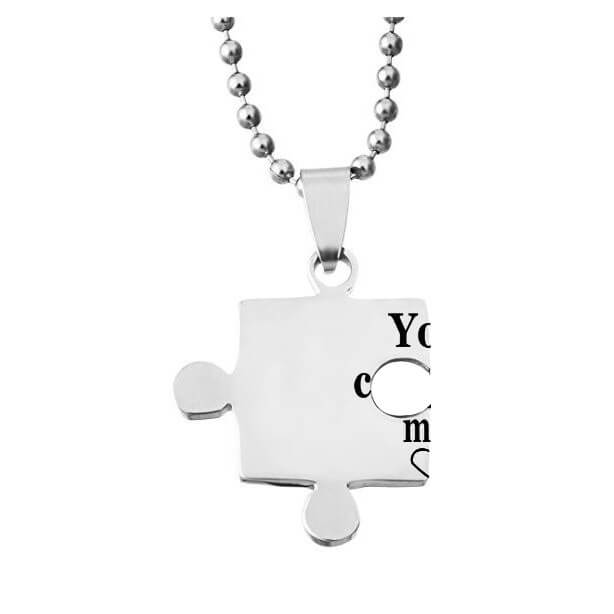 You Complete Me Puzzle Necklace