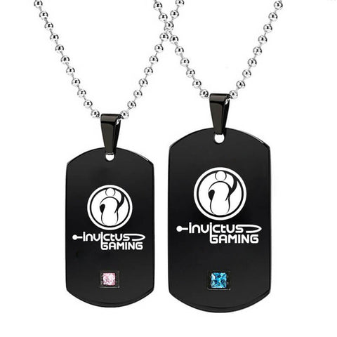 Titanium Black Tag Necklaces